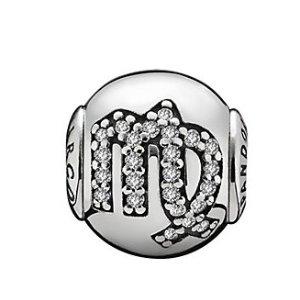 PANDORA Essence Collection Silver CZ Virgo Charm