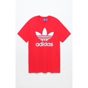adidas Trefoil Red T-Shirt at PacSun.com