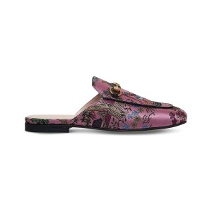 GUCCI - Princetown Donald Duck jacquard slippers