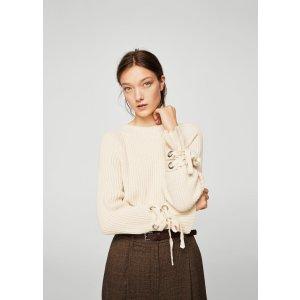 Bow textured sweater - Women | MANGO USA