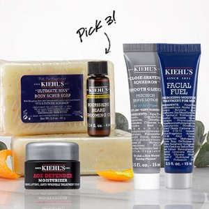 3 Deluxe Samples + FREE Gift Boxing + Free ShippingMen's Skin Care @ Kiehl's