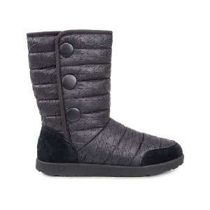 UGG® Black Houndstooth Puffy Quilted Boot - Kids | zulily