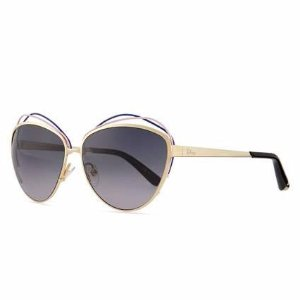 Dior Golden Metal Butterfly Sunglasses with Wire, Blue/Pink