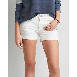 AEO Midi Short, White | American Eagle Outfitters