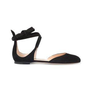 GIANVITO ROSSI - Pina lace-up suede ballet flats | Selfridges.com
