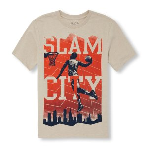 Boys Short Sleeve 'Slam City' Basketball Player Graphic Tee   The Children's Place