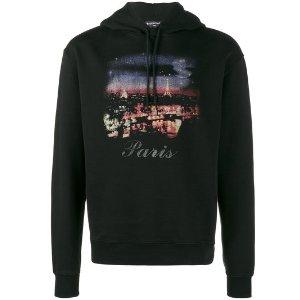 Paris print hoodie