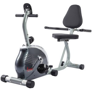 Sunny Health & Fitness Recumbent Bike w/ LCD Monitor and Pulse Rate Monitoring