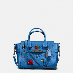 COACH: Swagger 27 In Embellished Canyon Quilt Leather