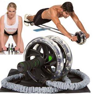 运动达人最爱~ Youactive Sports 健身滚轮器+弹力阻力绳套装