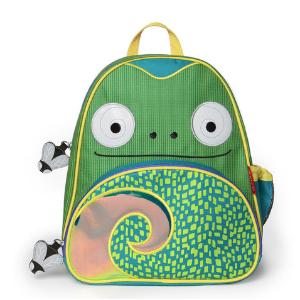 Skip Hop Zoo Little Kid Chameleon Green Backpack with Side Mesh Pocket - Toys
