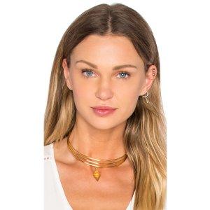 Vanessa Mooney Blondie Diamond Choker in Gold   REVOLVE
