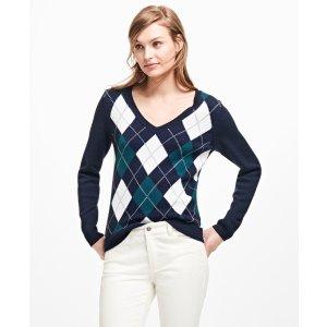 Merino Wool Argyle Sweater