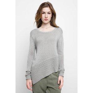 Neely Asymmetric Hem Pullover Sweater   South Moon Under