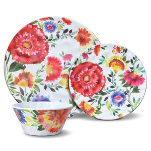 Buy Zinnia Garden 12 Piece Melamine Dinnerware Set online at Mikasa.com