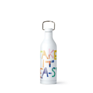 White 'Take It Tea-sy' Stainless-Steel Bottle