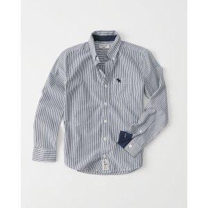 boys Long Sleeve Poplin Shirt | boys clearance | Abercrombie.com