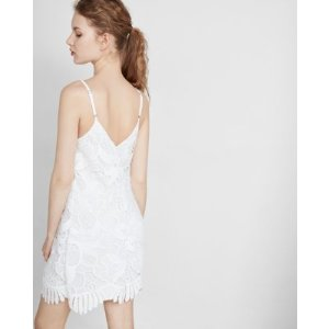 Crochet Lace Trapeze Dress