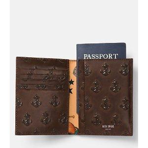 Embossed Anchor Passport Wallet - JackSpade