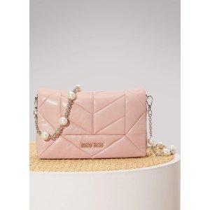 MIU MIU - Cristal leather bag