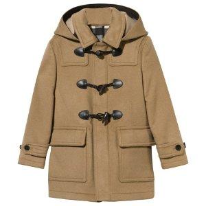 儿童羊毛牛角扣外套