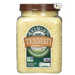 RiceSelect Texmati Light Brown Rice, Long Grain American Basmati, 32-Ounce Jars (Pack of 4)