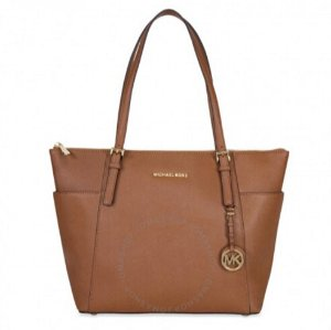 Michael Kors Jet Set Top-Zip Saffiano Leather Tote in Luggage – Large