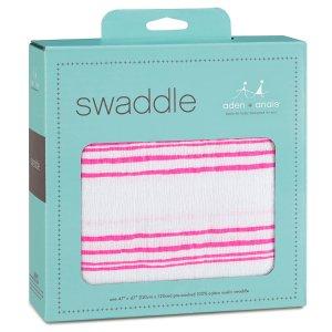 aden + anais 经典婴儿Muslin棉纱包巾 Fluro Pink