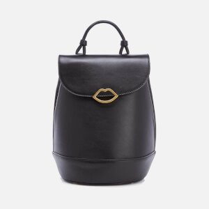 Lulu Guinness Women's Joanna Smooth Leather Backpack - Black