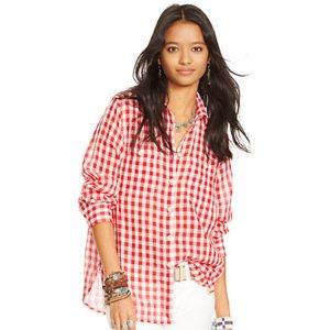 Plaid Cotton Gauze Shirt - Sale � Shirts & Tops - RalphLauren.com