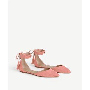 Ann Taylor 真皮绑带鞋(2色可选)
