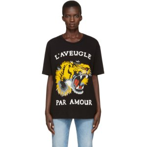 Black Roaring Tiger T-Shirt