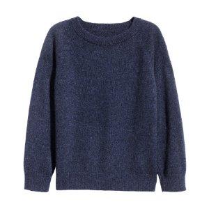 Cashmere Sweater | Dark blue | Kids | H&M US