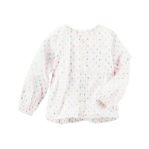 Baby Girl Swiss Dot Woven Top | OshKosh.com