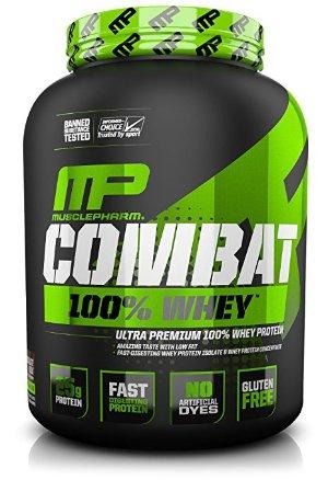 $26MusclePharm Combat 100% Whey Protein Powder 5lbs Chocolate Milk