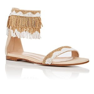 Gianvito Rossi Beaded Ankle-Cuff Sandals   Barneys Warehouse