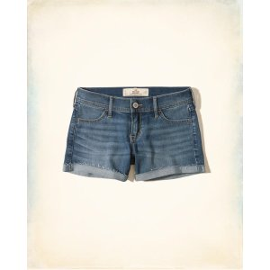 Girls Low-Rise Denim Midi Shorts | Girls Up to 50% Off Summer Sale | HollisterCo.com