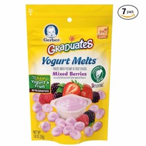 $11.45Gerber Graduates Yogurt Melts, Mixed Berry, 1 Ounce (Pack of 7)