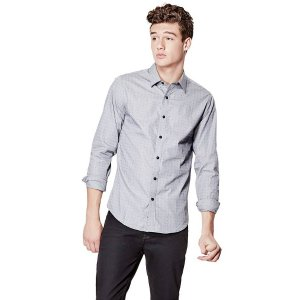Dylan Long-Sleeve Check Slim-Fit Shirt | GUESS.com