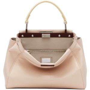Fendi: Pink Mini Peekaboo Bag | SSENSE