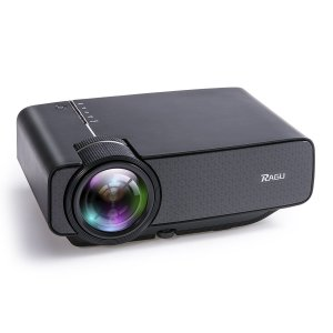 71.05RAGU Z400 Video Projector 1600 Luminous Efficiency Portable Home Entertainment Theater LED Projector