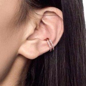 Wishbone Ear Cuff in Rose Gold