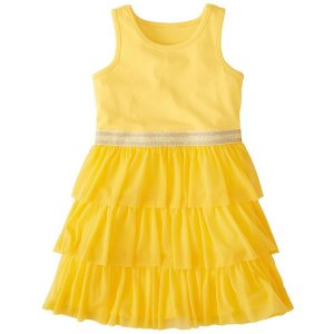 Girls Swish Sparkle Dress With Tulle Tiers | Girls Dresses Sleeveless