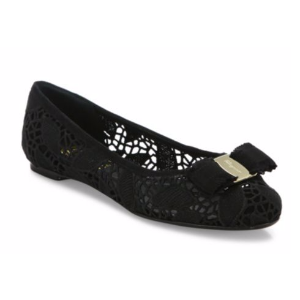 Salvatore Ferragamo - Varina Laced Leather Ballet Flats - saks.com