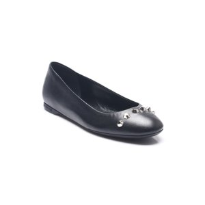 Balenciaga Balenciaga Women's Leather Studded Ballerina Shoes Flats | Bluefly.Com