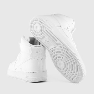Nike Air Force 1 High - Men's - Basketball - Shoes - White/White