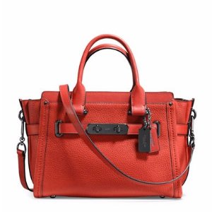 Swagger Pebbled Leather Satchel