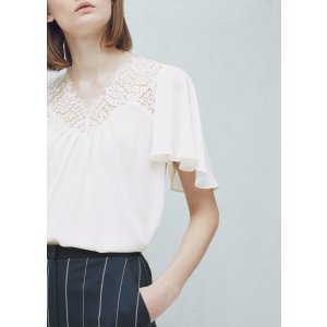 Lace panel blouse - Women | OUTLET USA