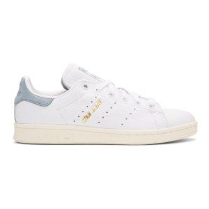 adidas Originals x Pharrell Williams - White & Blue Stan Smith Sneakers