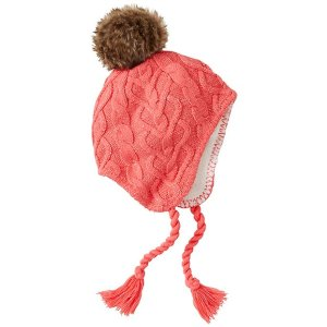 Girls Cozy Fur-Lined Cable Hat | Sale Girls Accessories